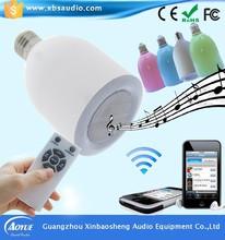 Smart Design2-in-1 Mini Bluetooth LED Buib s10 watt Wireless Speaker With Remote Control