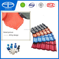 high quality and cheap synthetic spanish roof tile