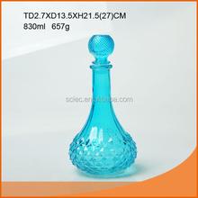 Nice colored 830ml glass wine bottle for world market