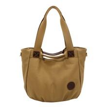 bolso de la manera dama bonito bolso de lona del hombro la bolsa de lona de algodón 3 bolsas de colores