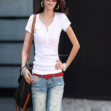 OEM Women Cotton Tshirt White Print Tshirt Manufacturing Tshirt Women From China
