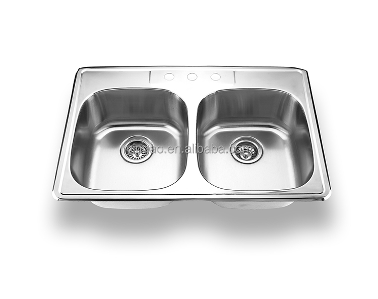 Factory double bowl sus304 ss Kitchen Sink handmade kitchen stainless sink russia