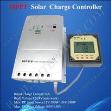 30a MPPT Solar Charge Controller 12V 24V Auto Work
