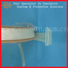 Adhesive lined high temperature clear shrinkable tubes