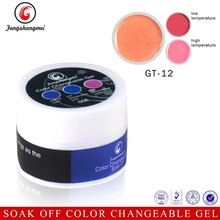 New best selling temperature change uv gel change color polish for nails paint manicure accessory