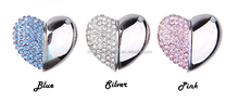 High Quality 32GB/16GB/4GB USB Flash Drive Heart Shape Crystal Jewelry USB Flash Memory Drive Keychain