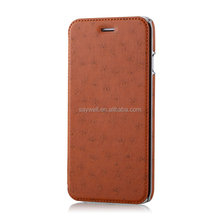 2015 Newest design leather flip cover mobile phone case
