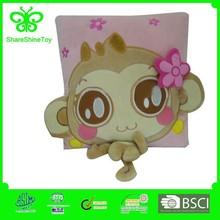 newstyle happy animal monkey plush cushion