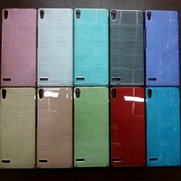alibaba express TPU Silicone Brushed Crystal Phone Case Cover For Huawei Ascend p6