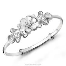 New Fashion sterling silver bangle bracelets wholesale diy B0808