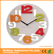 2015 new design plastic 3D numbers home decore clock