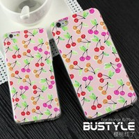 Ultra slim soft tpu mobile phone cases for iPhone 5 5s 6 plus with new fresh cherry custom design