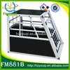 multi-color durable pet aluminum dog transport cage