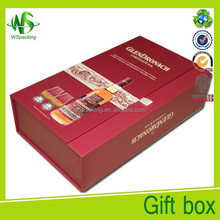 Red wine box flip top boxes with magnetic catch