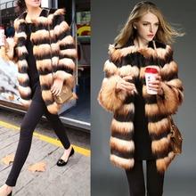 C88118A women winter fox fur overcoats hot sale fashion lady fake fur coats