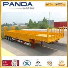 PANDA 3 axle 50 tons low bed log loader semi trailer for sale