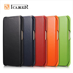 Genuine Leather Wallet Case For Samsung Galaxy S6 Edge,Ultra Thin Flip Mobile Phone Cover For S6 Edge