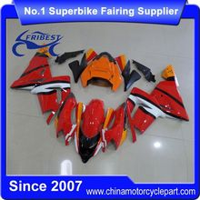 FFGKA006 Motorcycle ABS Fairing For ZX10R ZX 10R 2004 2005 Orange Black And White