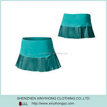 Sexy Gradual Blue Color 100% Polyester Very Short Sport Skirts