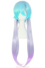 YILU Harajuku Style Mixed Light Blue/ Light Purple Anime Costume Cosplay Wig