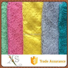 50D 160cm Width And 240cm Width Colorful Embroidery Rainbow Lace Fabric