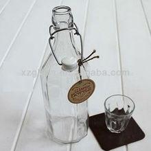 de alta calidad de agua de vidrio botellas de oscilación superior