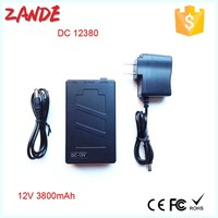Super Power New Dc 12v Portable 3800mah Li-ion Super Rechargeable Battery Pack black high quality