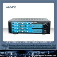 4 Mic Input Digital Echo Karaoke Mixer With High Quality Iron Panel