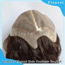 fashion loose curly malaysian hair 100% Human Hair Handtied Monofilament Wig for Women