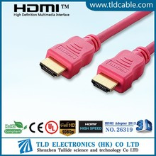 Red high speed HDMI Cable 2.0v support 4k gold plated