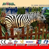 Amusement park playground animatronic simulation animal of zebra for sale