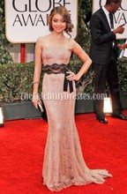 Sarah Hyland Strapless Lace Prom Formal Dress Golden Globes Awards 2012