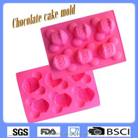 Wholesale Silicone manufactures funny animal shaped silicone cake moulds