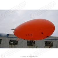 Orange 4 meters long pneumatic remote control airship / medium-sized inflatable airship / exercise Exhibition