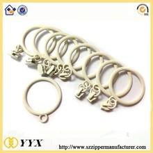 cheap DTM color key ring zipper puller white ring pull zip