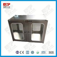 Durable dust proof stainless steel transfer window