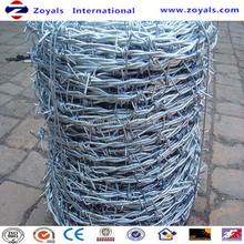 ISO9001:2008 Good Quality Galvanized Barbed Wire Double Twisted Barbed Wire Reliable Factory