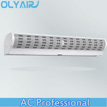 OlyAir Cyclone cross Flow warehouse Air Curtain from 90-200cm length remote control with install hight three meter