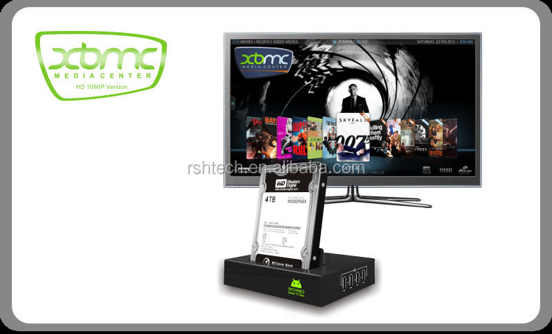 "Dualcore Android 4.2 IPTV Google TV Box HD 1080P Smart Media Player Box Internal 2.5"" SATA"