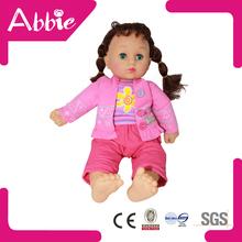 15 inch Cotton Doll Lovely Clothing Infant Girl Big Eyes Dolls Baby Girl