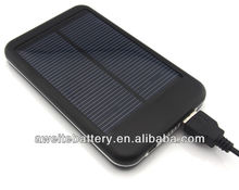 portable solar mobile phone charger 5000mAh for outdoor activities using
