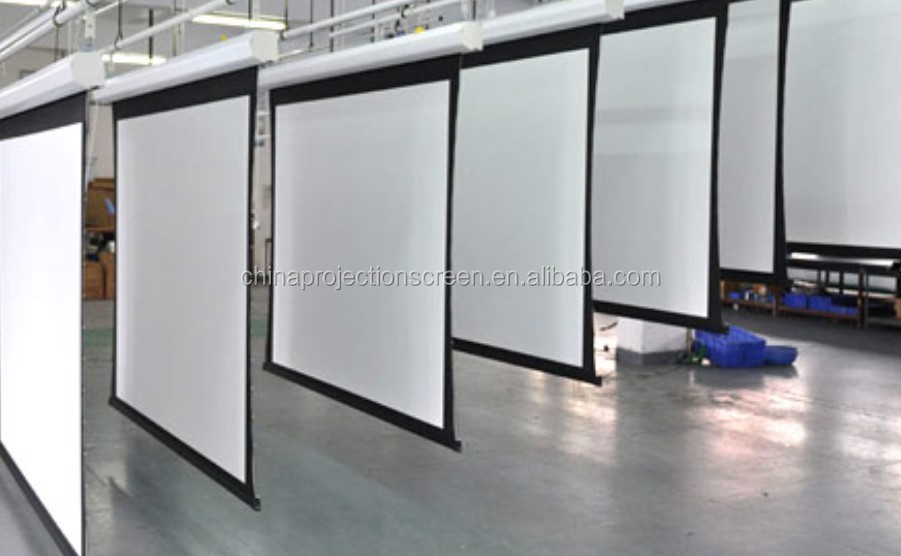 72 300 motorized projection screen large size for for Motorized home theater screen