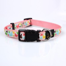 promoting cute dog collars made from nylon poyester pp