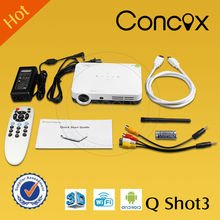 2015 new wireless led video projector hd full hd 1080p China manufature/ China supplier Concox Q shot3