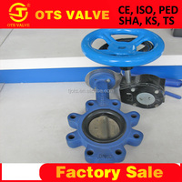 BV-SY-168 GGG50 worm gear lug butterfly industry valves supplier importer NBR/EPDM seat