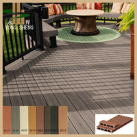 groove or wood grain wood plastic composite decking /wpc decking