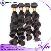Grade AAAAA unprocessed 100% virgin hair pieces for black women