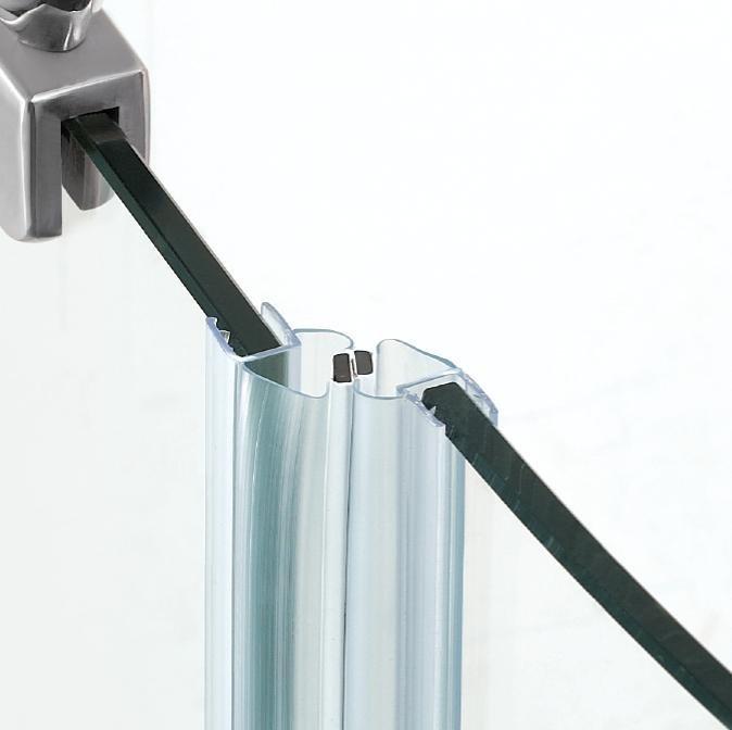 Rubber Glass Door Edge Protection Shower Door Rubber Seal