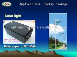 LiFePO4 12V 100AH Deep Cycle Battery for e-tricycle/motorcycle/wind energy