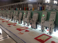 10 heads coiling embroidery machine